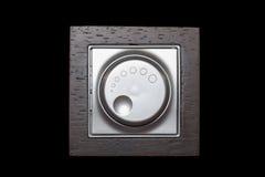Interruttore della luce elettrico del regolatore della luminosità fotografia stock