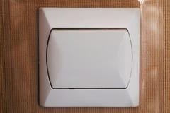 Interruttore della luce della plastica di Whtie immagini stock
