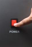 Interruttore di accensione rosso Fotografia Stock Libera da Diritti