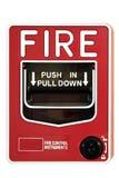 Interruttore di comando del segnalatore d'incendio di incendio immagine stock