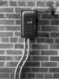 Interruttore di potenza sulla parete immagine stock libera da diritti