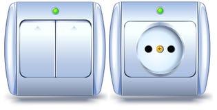 Interruttore e zoccolo illustrazione vettoriale
