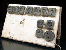 Interruttore elettrico della vecchia annata Fotografia Stock Libera da Diritti