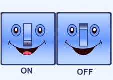 Interruttore elettrico divertente Immagine Stock