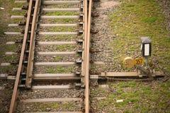 Interruttore ferroviario immagini stock
