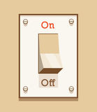 Interruttore della luce inserita/disinserita Fotografia Stock
