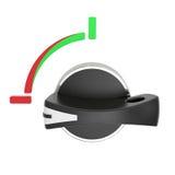Interruttore orizzontale rotativo isolato su bianco Immagine Stock Libera da Diritti