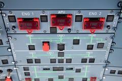 Interruttori di allarme antincendio del motore Immagine Stock