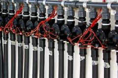 Interruttori di comando di irrigazione Fotografie Stock