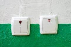 Interruttori elettrici Fotografie Stock