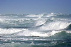 Interruttori tempestosi dell'oceano Immagini Stock Libere da Diritti