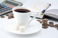 Interruzione su caffè fotografia stock libera da diritti