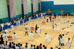Interschool fencing competition Stock Photos