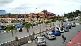 Interseção da cidade de Marang durante horas de ponta vídeos de arquivo