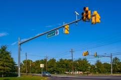 Interseção da estrada Fotografia de Stock