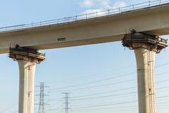 Interseção da junção da estrada da construção foto de stock royalty free