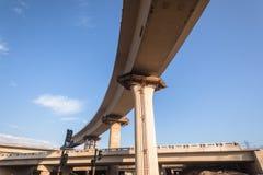 Interseção da junção da estrada da construção imagens de stock royalty free