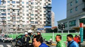 Interseção do norte de Zhongshan e das estradas de Wuning imagem de stock