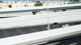 Interseção do tráfego em Dubai filme