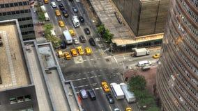 interseção ocupada de 4K UltraHD A em Manhattan
