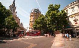 Interseção ocupada de Londres Imagem de Stock Royalty Free