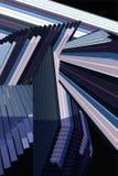 Interseções circulares de linhas retas Foto de Stock Royalty Free