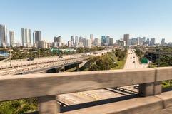 Interseções da estrada perto de Miami, Florida fotografia de stock