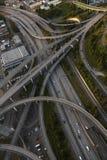 Intersección americana de la autopista sin peaje de la fotografía aérea foto de archivo