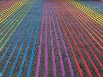 Intersección de Castro District Rainbow Colored Crosswalk, San Francisco, California Fotografía de archivo