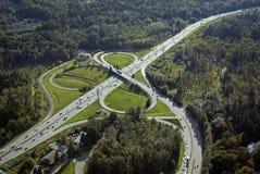 Intersección de la carretera Fotografía de archivo