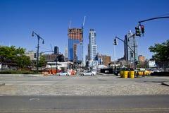 Intersección de New York City en el lado oeste de Manhattan Fotografía de archivo libre de regalías