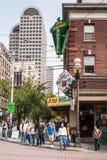 Intersección de Pike y del 1r en Seattle, WA Imagen de archivo libre de regalías