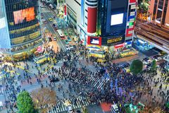Intersección de Tokio, Japón Foto de archivo