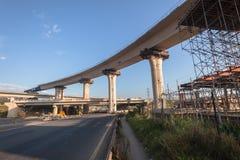 Intersección del empalme de la carretera de la construcción Fotografía de archivo libre de regalías