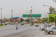 Intersección del norte de Shiraz Fotografía de archivo libre de regalías