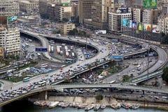Intersección El Cairo del paso elevado Foto de archivo