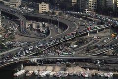 Intersección en El Cairo Imagenes de archivo