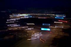 Intersección en la noche Imagenes de archivo