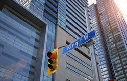 Intersección financiera del distrito de Toronto Imagenes de archivo