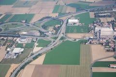 Intersección Voghera de la carretera Fotos de archivo