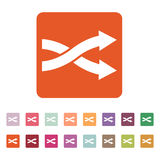 The intersecting arrows icon. Exchange and  turn, cross symbol. Flat. The intersecting arrows icon. Exchange and turn, cross symbol. Flat Vector illustration Royalty Free Stock Photography