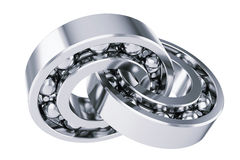 Intersecting ball bearings Royalty Free Stock Photos
