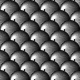 Intersecting circles abstract monochrome Repeatable pattern. royalty free illustration