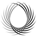 Intersecting circular symmetric lines. Abstract geometric elemen. T - Royalty free vector illustration Royalty Free Stock Image