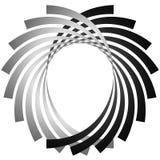 Intersecting circular symmetric lines. Abstract geometric elemen Stock Photo