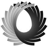 Intersecting circular symmetric lines. Abstract geometric elemen Stock Image