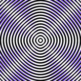 Intersecting concentric circles. Moire, noise effect texture / p Stock Image