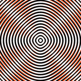 Intersecting concentric circles. Moire, noise effect texture / p. Attern royalty free illustration