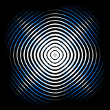 Intersecting concentric circles. Moire, noise effect texture / p Royalty Free Stock Image