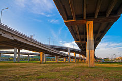 Intersecting lines of Bangkok freeway. Stock Photo